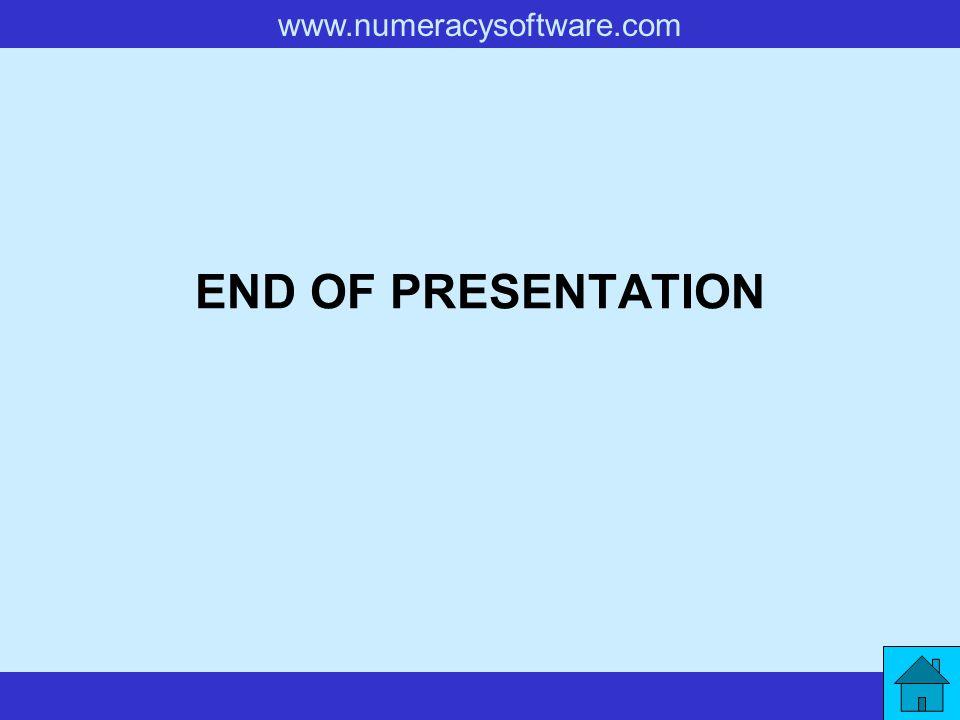 www.numeracysoftware.com END OF PRESENTATION