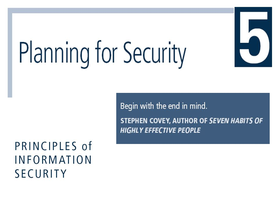 Principles of Information Security, 3rd Edition 32 Business Impact Analysis (BIA)  Investigation and assessment of the impact that various attacks can have on the organization  Assumes security controls have been bypassed, have failed, or have proven ineffective, and attack has succeeded  Stages of BIA  Threat attack identification and prioritization  Business unit analysis  Attack success scenario development  Potential damage assessment  Subordinate plan classification