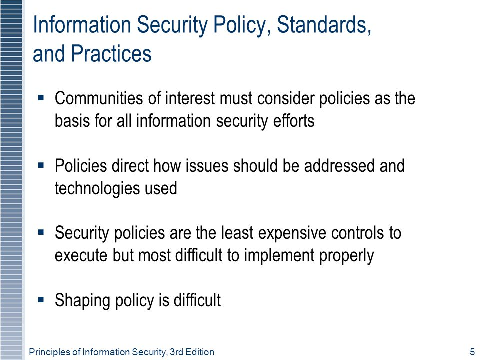 Principles of Information Security, 3rd Edition 36 Incident Reaction  Consists of actions that guide organization to stop incident, mitigate impact of incident, and provide information for recovery from incident  In reacting to an incident, there are actions that must occur quickly:  Notification of key personnel  Documentation of incident