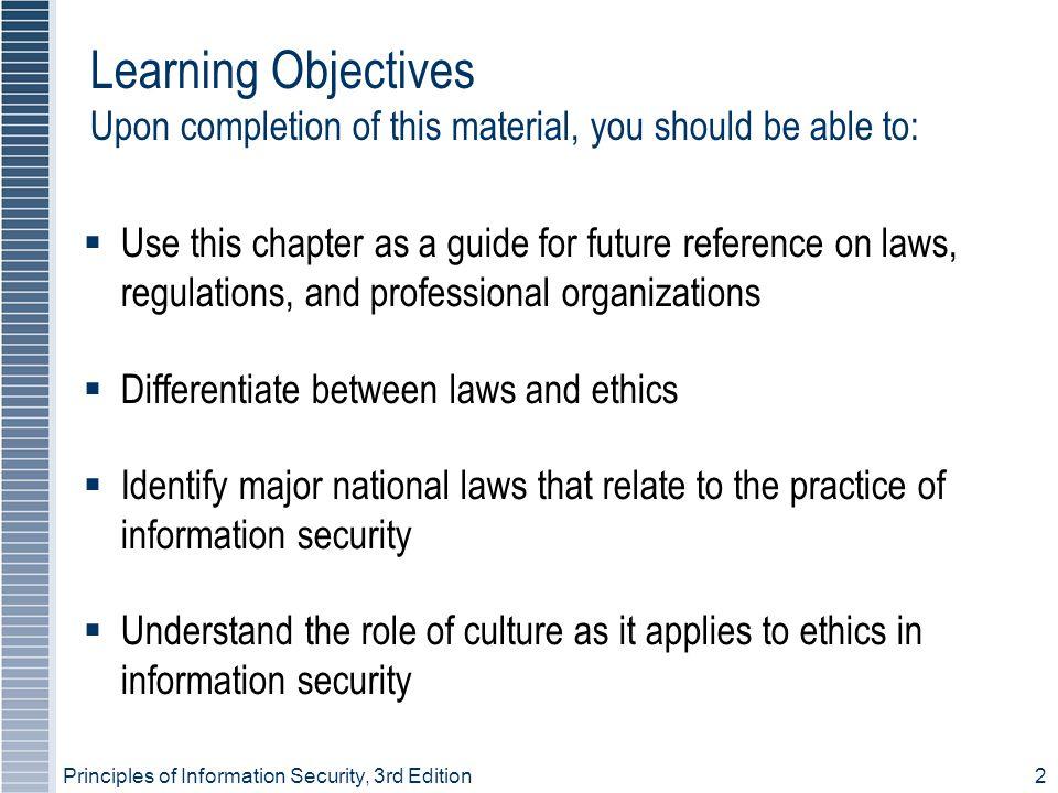 Principles of Information Security, 3rd Edition23 Figure 3-4 – EU Law Portal
