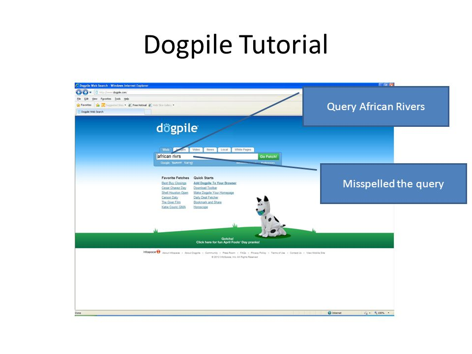 Dogpile Tutorial Misspelled the query Query African Rivers