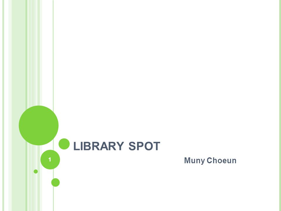 2 LIBRARYSPOT.COM Library Spot is a free virtual library resource center for education and students, librarian and their patrons families, business and just about anyone exploring the web for valuable research information.