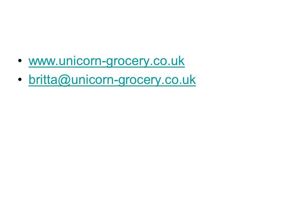 www.unicorn-grocery.co.uk britta@unicorn-grocery.co.uk