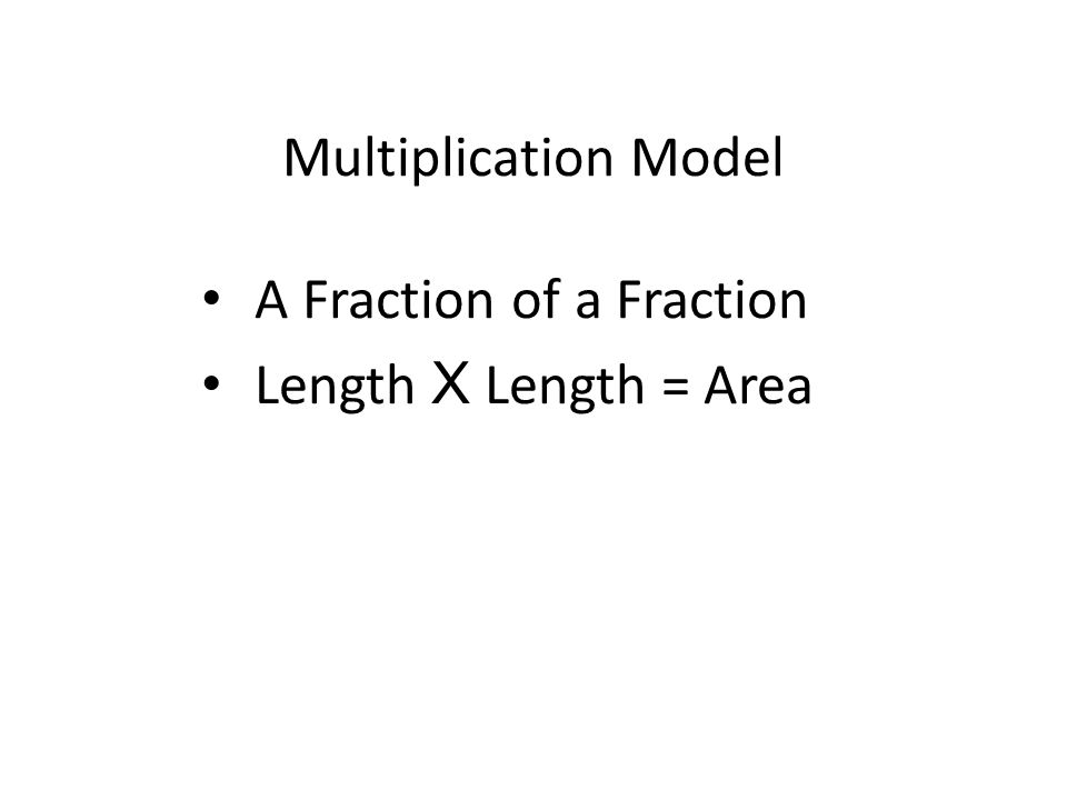 We will think of multiplying fractions as finding a fraction of another fraction.