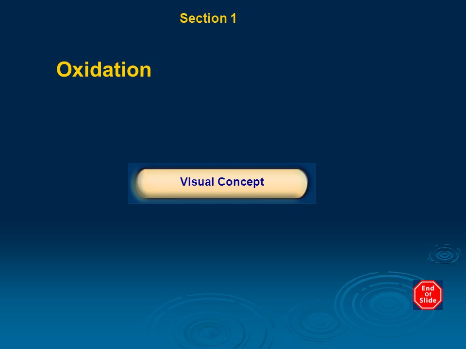 Section 1 Weathering Chapter 10 Oxidation Click below to watch the Visual Concept. Visual Concept