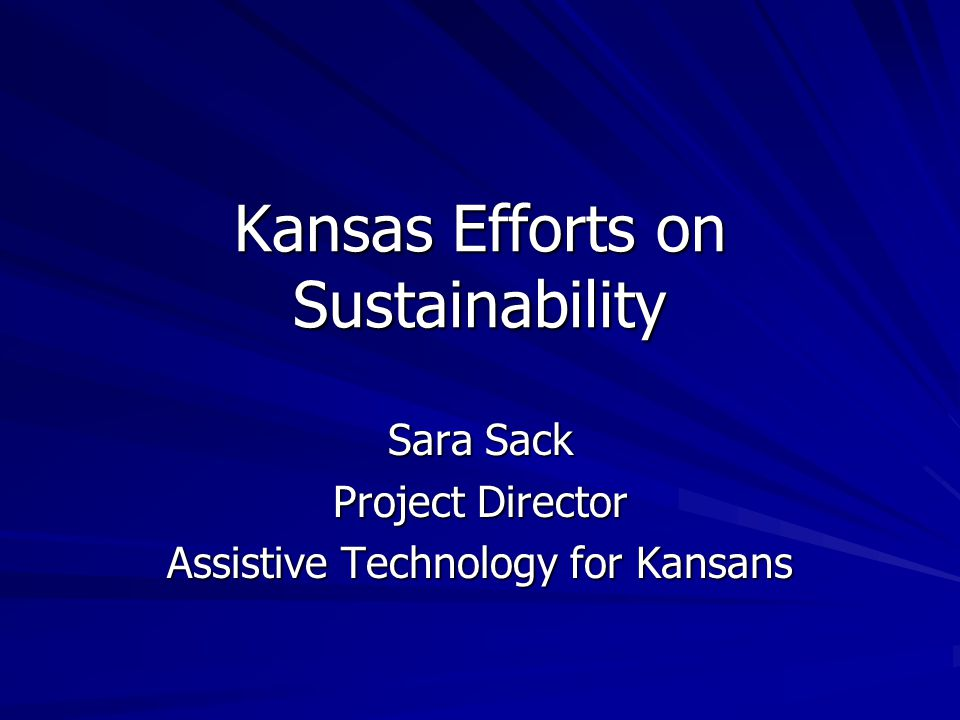 Presentation Roadmap Guiding principles Current Kansas plan New elements to be analyzed Additional strategies