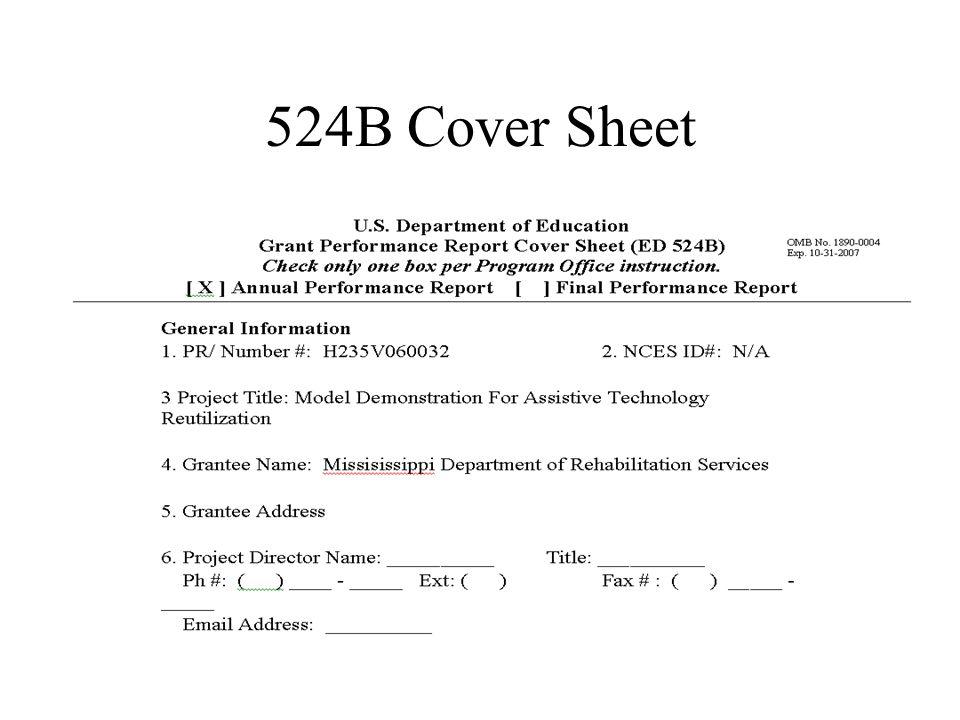 524B Cover Sheet