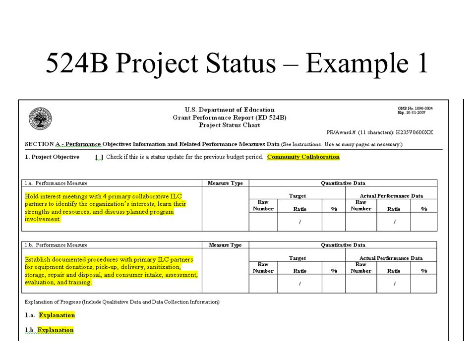 524B Project Status – Example 1