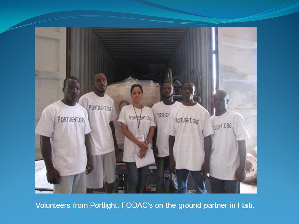 Volunteers from Portlight, FODAC's on-the-ground partner in Haiti.