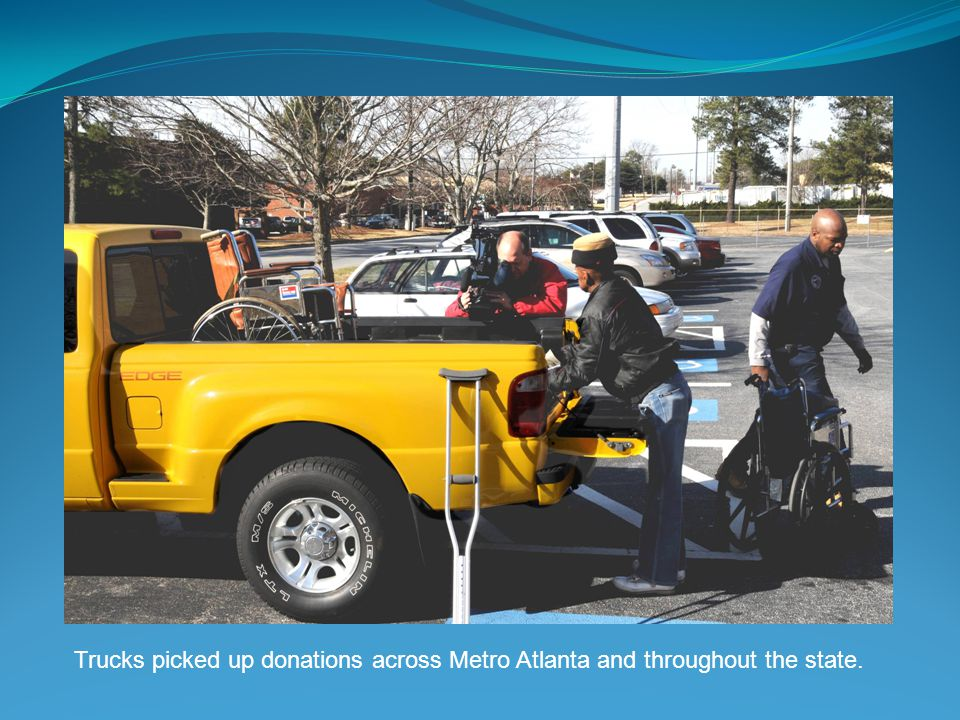 Trucks picked up donations across Metro Atlanta and throughout the state.