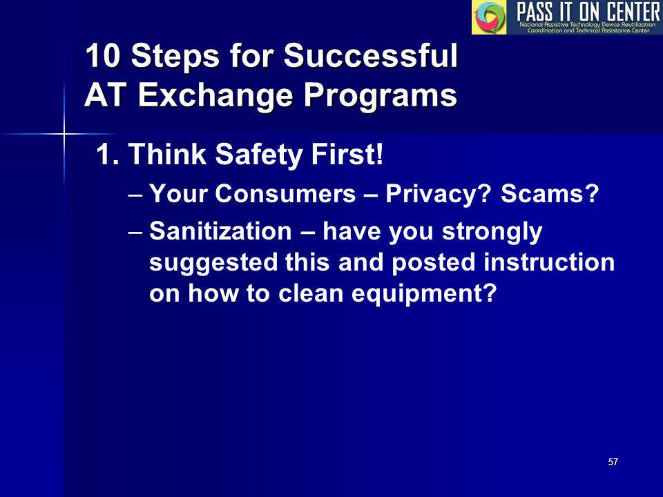 57 10 Steps for Successful AT Exchange Programs 1.