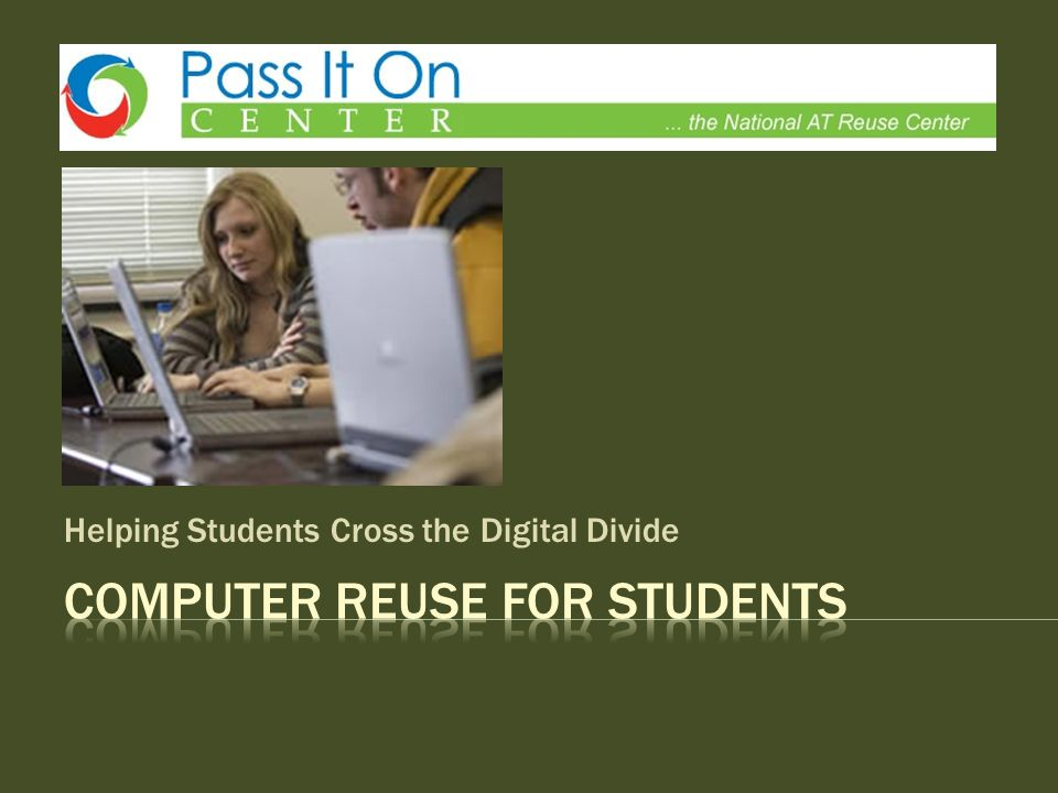 Helping Students Cross the Digital Divide