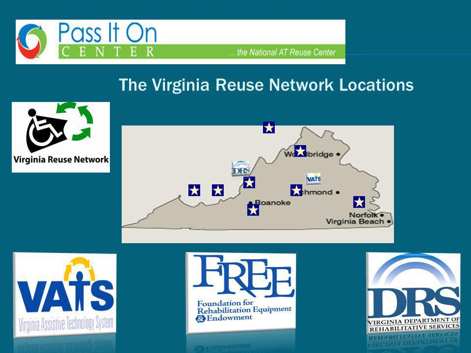 The Virginia Reuse Network Locations