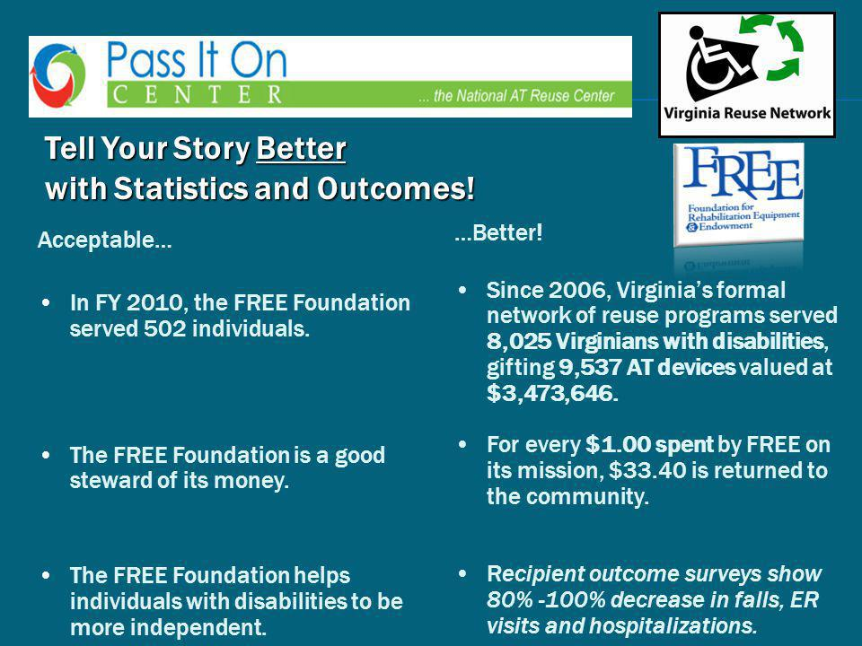 Tell Your Story Better with Statistics and Outcomes.