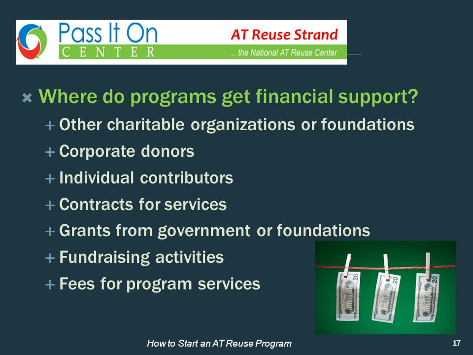  Where do programs get financial support.