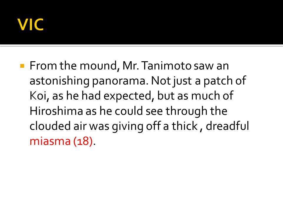  From the mound, Mr. Tanimoto saw an astonishing panorama.