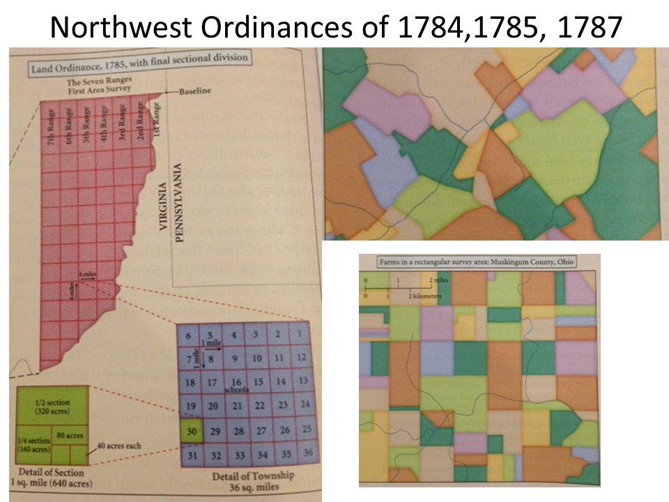 Northwest Ordinances of 1784,1785, 1787