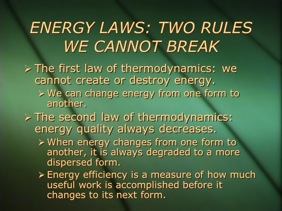 Two Secrets of Survival: Energy Flow and Matter Recycle  An ecosystem survives by a combination of energy flow and matter recycling.