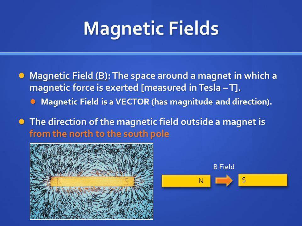 Magnetic Force cont'd Now we know: Now we know: a charged particle moving through a magnetic field experiences a deflecting force a charged particle moving through a magnetic field experiences a deflecting force So… So… a current of charged particles moving through a magnetic field also experiences a deflecting force a current of charged particles moving through a magnetic field also experiences a deflecting force F = force (N) I = current (A) L = length of wire (m) B = magnetic field (T) F = ILB