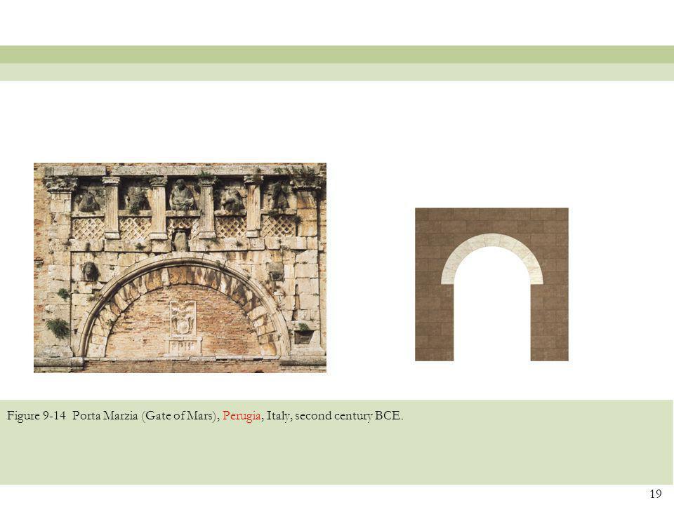Figure 9-14 Porta Marzia (Gate of Mars), Perugia, Italy, second century BCE. 19