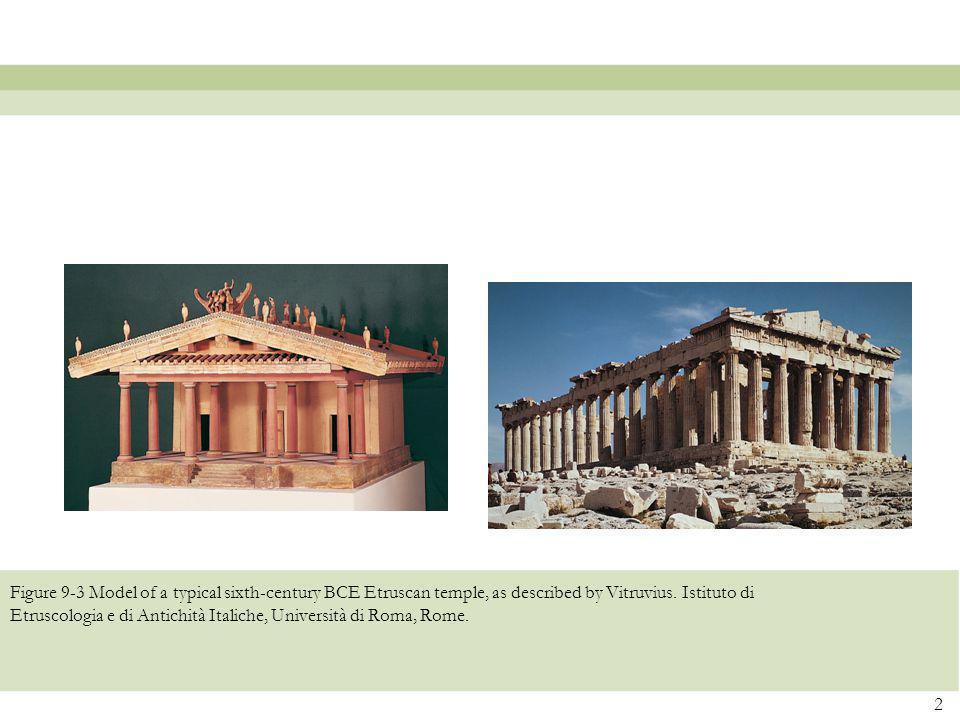 Figure 9-3 Model of a typical sixth-century BCE Etruscan temple, as described by Vitruvius. Istituto di Etruscologia e di Antichità Italiche, Universi