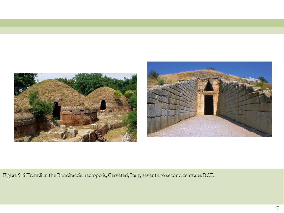 Figure 9-6 Tumuli in the Banditaccia necropolis, Cerveteri, Italy, seventh to second centuries BCE. 7