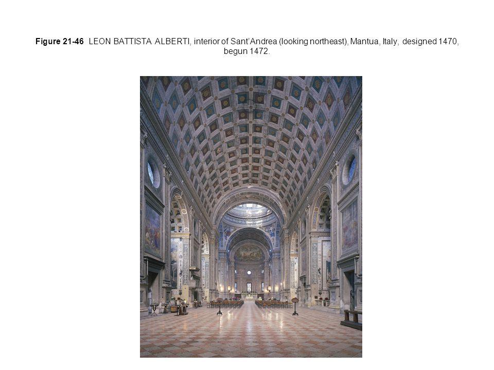 Figure 21-46 LEON BATTISTA ALBERTI, interior of Sant'Andrea (looking northeast), Mantua, Italy, designed 1470, begun 1472.