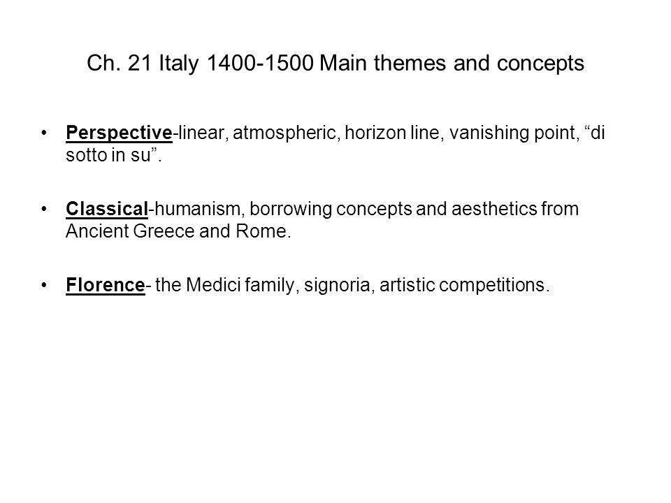 Perspective Figure 21-20 MASACCIO, Holy Trinity, Santa Maria Novella, Florence, Italy, ca.