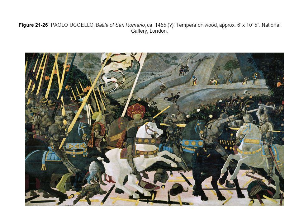 Figure 21-26 PAOLO UCCELLO, Battle of San Romano, ca.