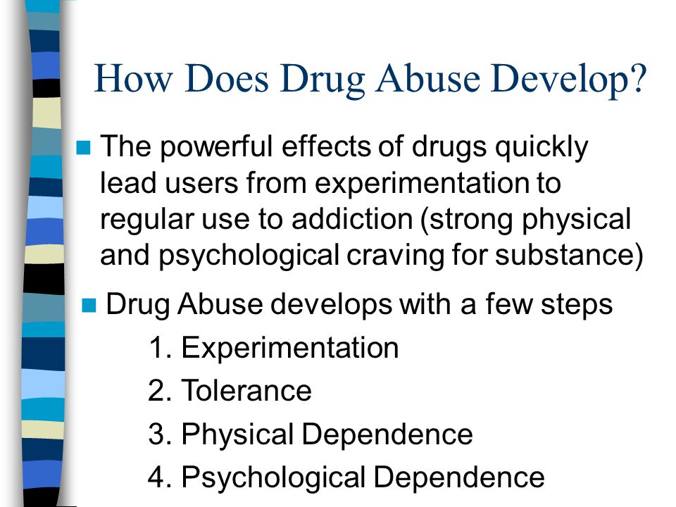 How Does Drug Abuse Develop.