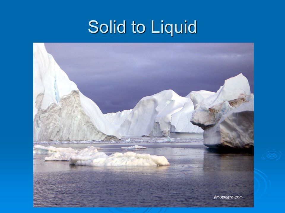 Solid to Liquid