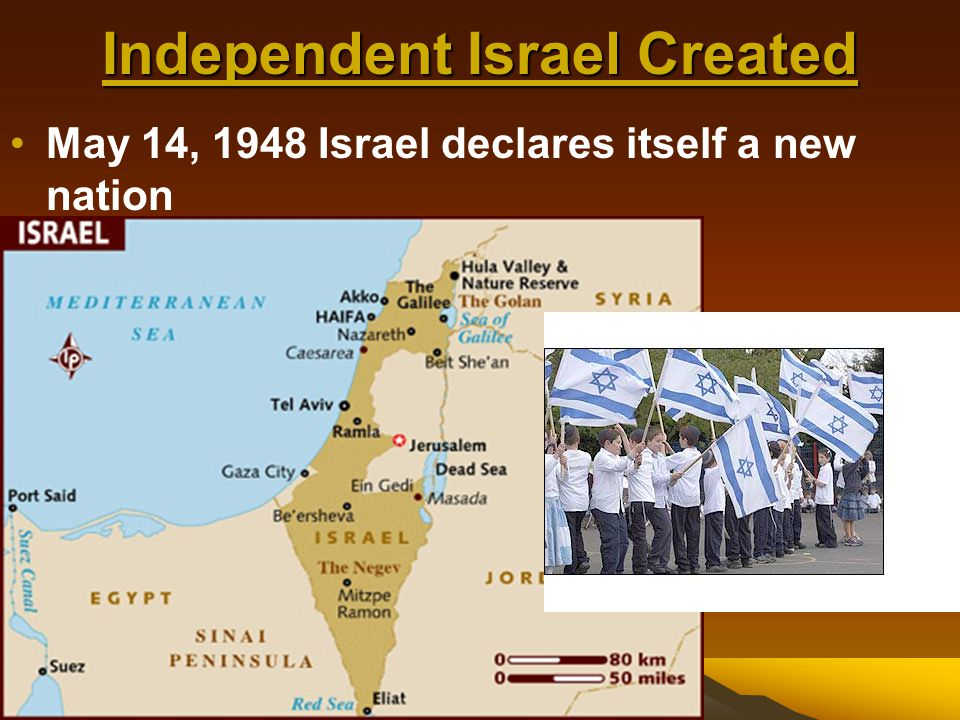 Independent Israel Created Cause #1 UN recommends taking a part of Palestine (British colony before WWII) and giving it to Jews for Israel