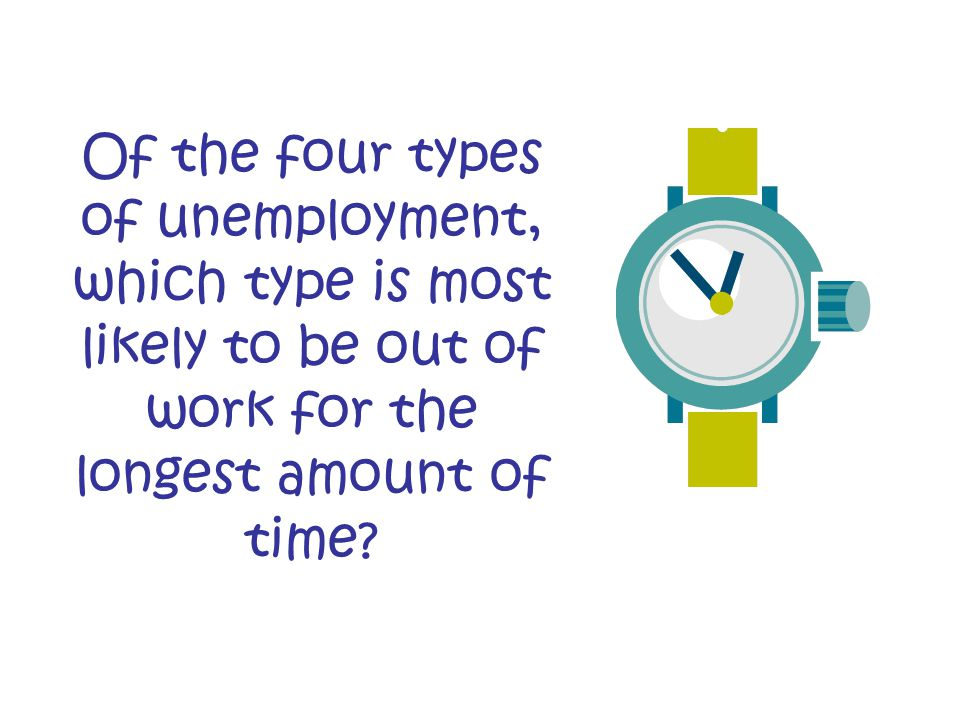 Of the four types of unemployment, which type is most likely to be out of work for the longest amount of time?