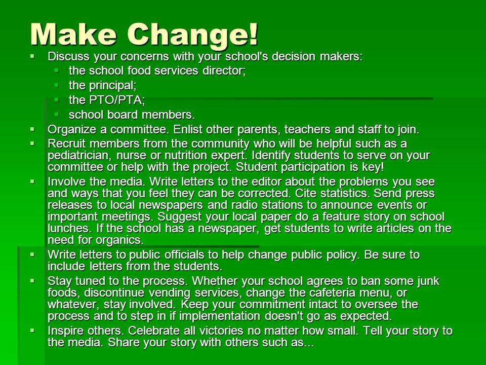 Make Change.
