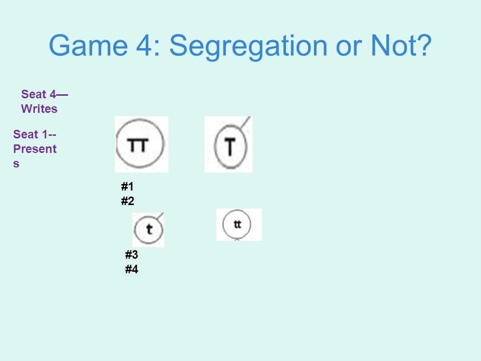 Mendel's Law 2 pg 92 Mendel's Law of Segregation —allele pairs separate during gamete formation and end up in different gametes (sperm and egg) Draw 4 sperm that are segregated