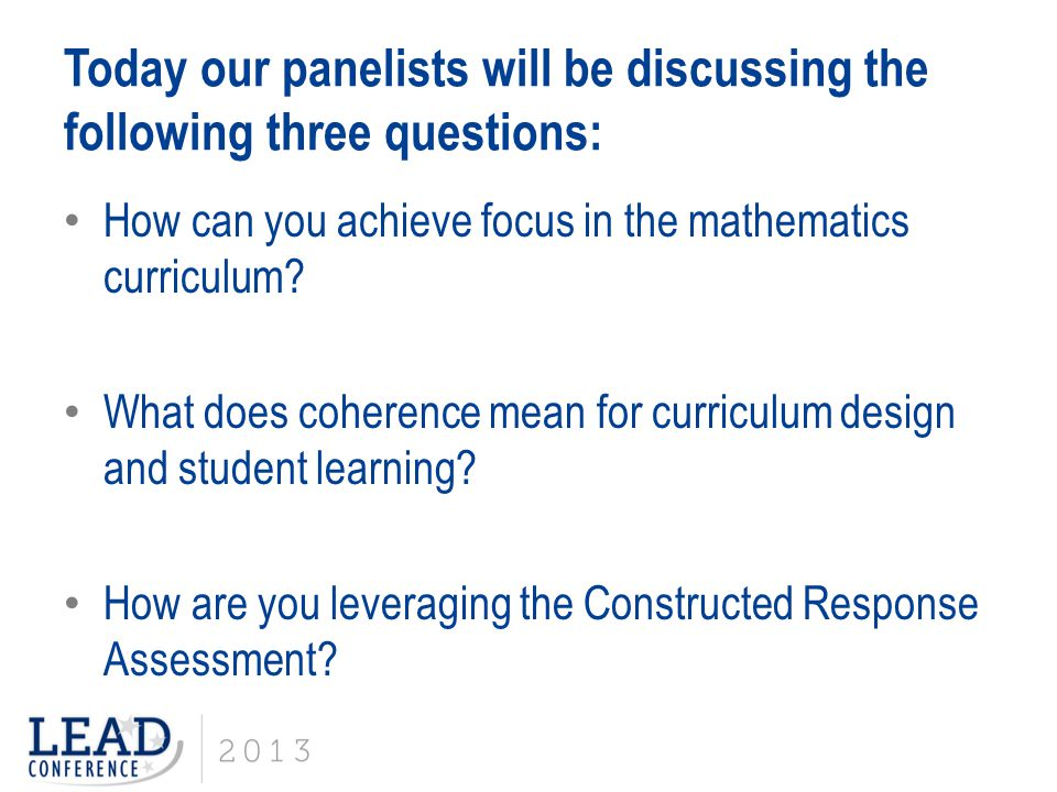 How can you achieve focus in the mathematics curriculum.