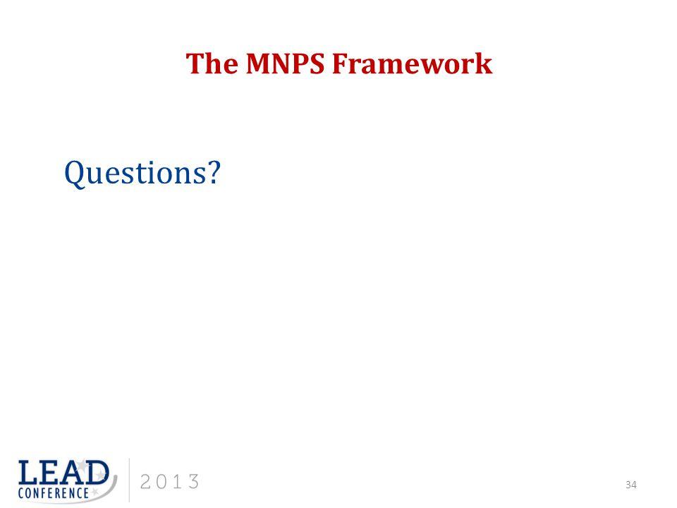 The MNPS Framework Questions? 34