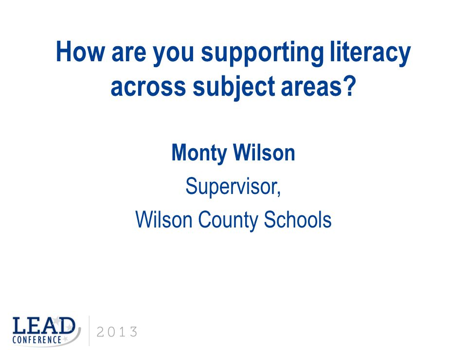How are you supporting literacy across subject areas.