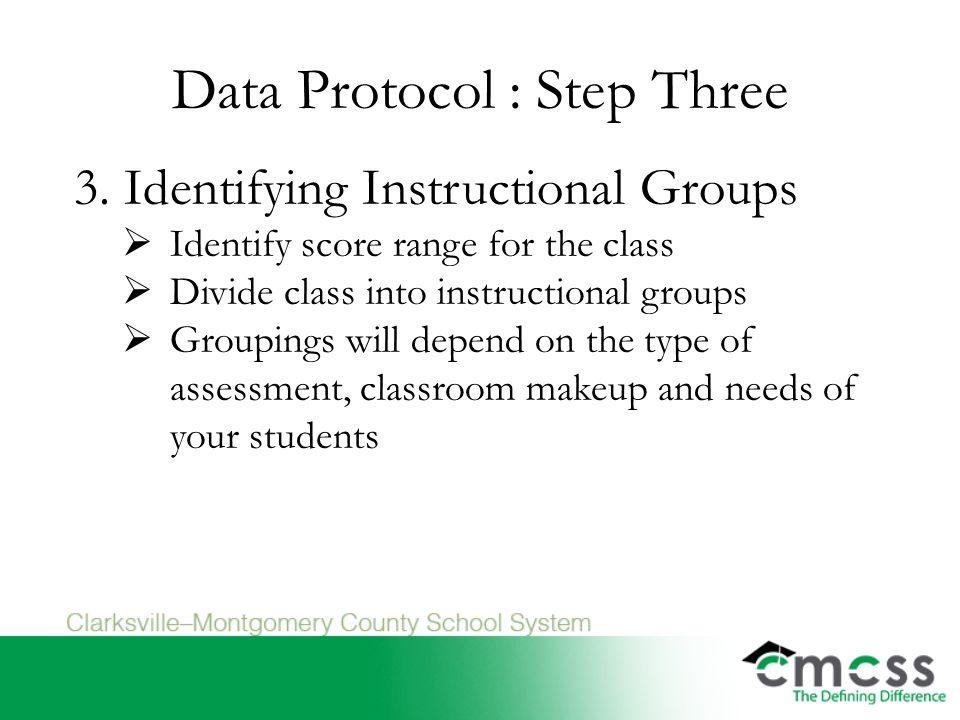 Data Protocol : Step Three 3.