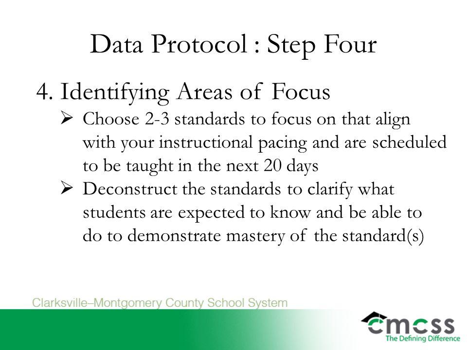 Data Protocol : Step Four 4.