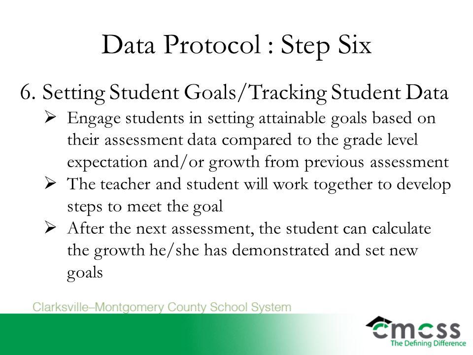 Data Protocol : Step Six 6.