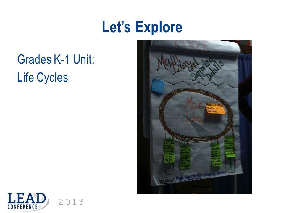 Let's Explore Grades K-1 Unit: Life Cycles