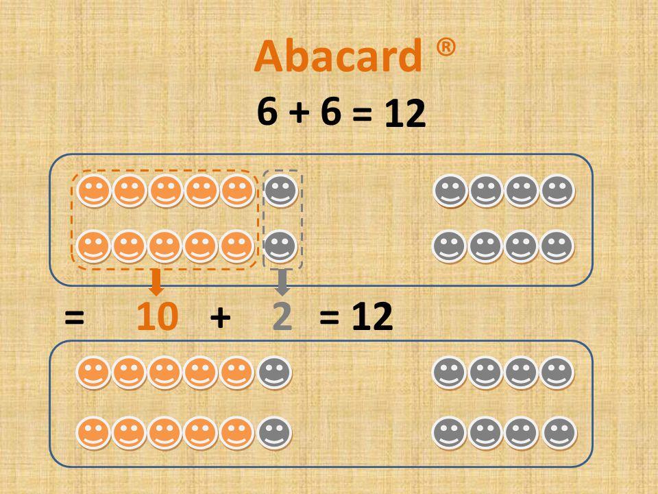 6 + 5 = 10 + 1= 11 Abacard ® = 11