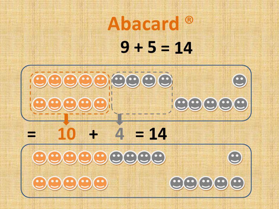 9 + 6 = 10 + 5= 15 Abacard ® = 15