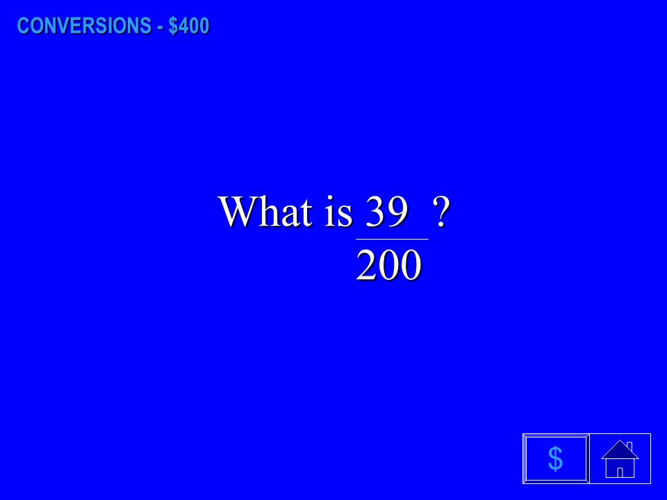 CONVERSIONS - $300 What is 126 2/3 %? $