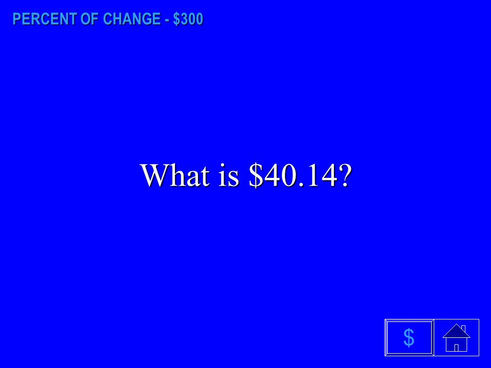 PERCENT OF CHANGE - $200 What is 6 2/3 %? $