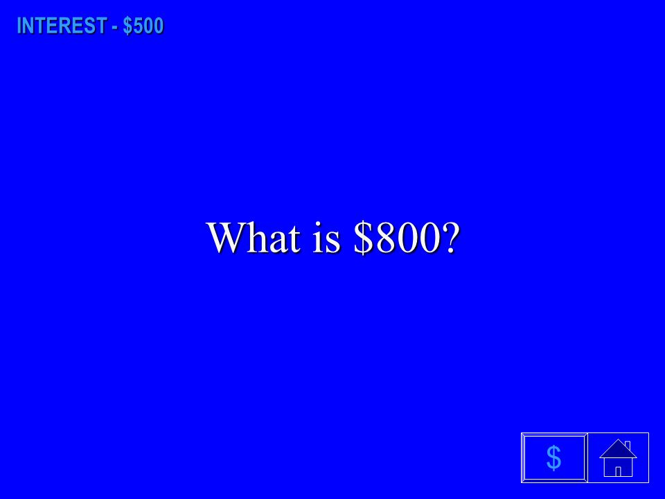 INTEREST - $400 What is $6.04? $