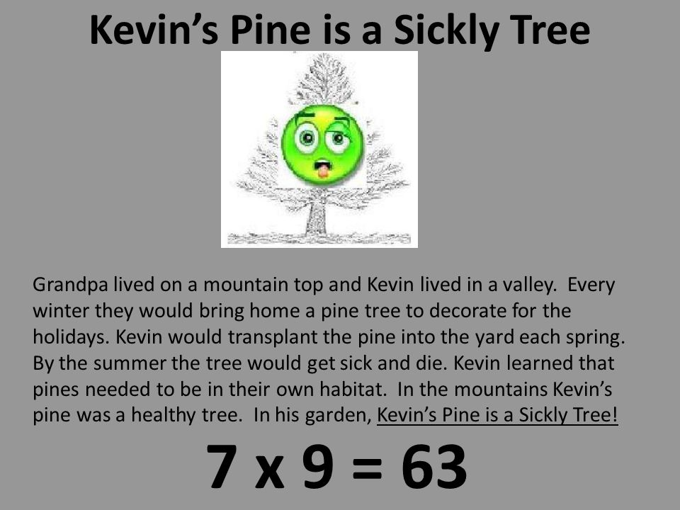 """Kevin Ate the Fifty Trix 7 x 8 = 56 Kevin wanted Trix for breakfast every day. His mom knew too much sugar was bad for growing young boys. She said """"Y"""