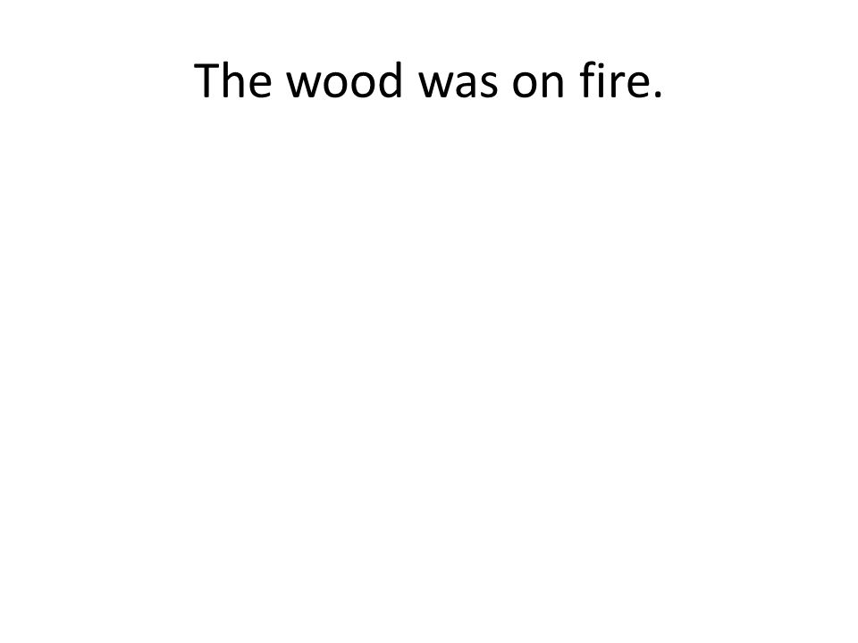 The wood was on fire.