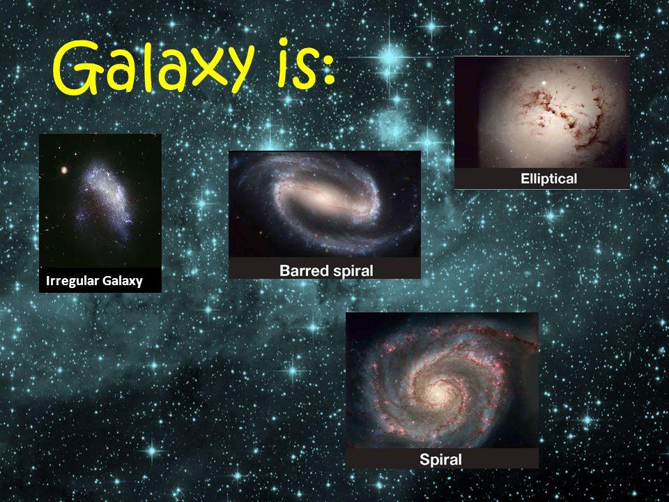 Galaxy is: Irregular Galaxy